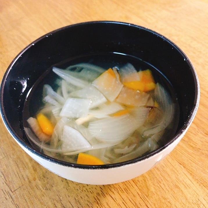 幼児向け、昆布とカツオで取る和風野菜スープ