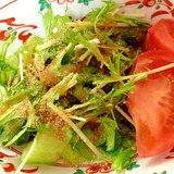青梗菜と水菜トマトの中華サラダ