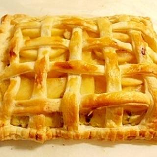 らぽっぽ風に、焼きたてポテトアップルパイ