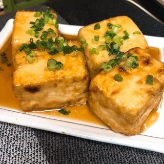水切りはレンジで!美味しい揚げ出し豆腐♡