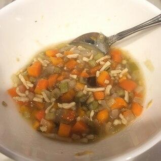 【離乳食後期】野菜とひき肉のコンソメ煮