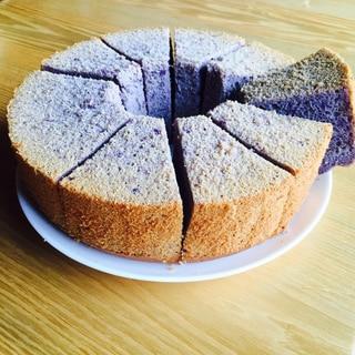 米粉の紫芋シフォンケーキ