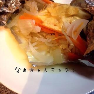 フライパンで〜タラの味噌マヨホイル焼き