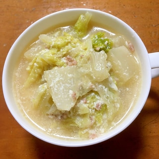 白菜消費に♡豆乳スープ