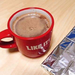 残ったチョコでホットチョコレート