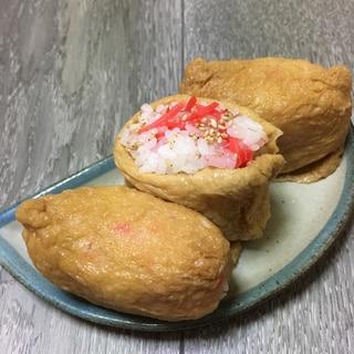 胡麻と紅生姜deいなり寿司♪