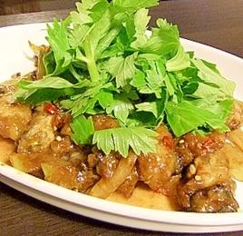 牡蠣とセロリの中華風炒め物