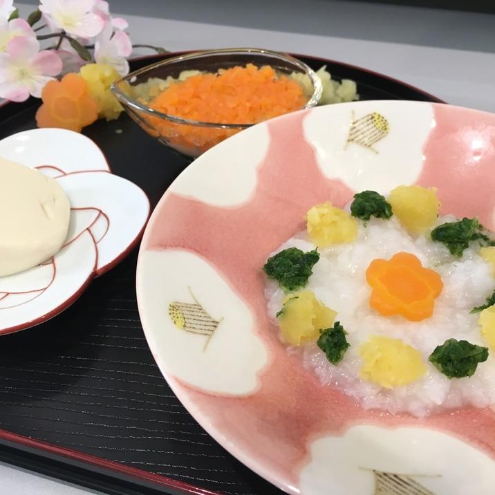 【離乳食中期】ひな祭りちらし寿司風
