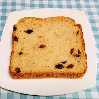 HBで☆アーモンドとレーズンの食パン