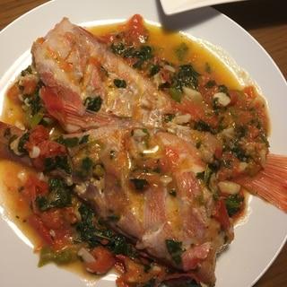 魚だけで美味しいアクアパッツァ
