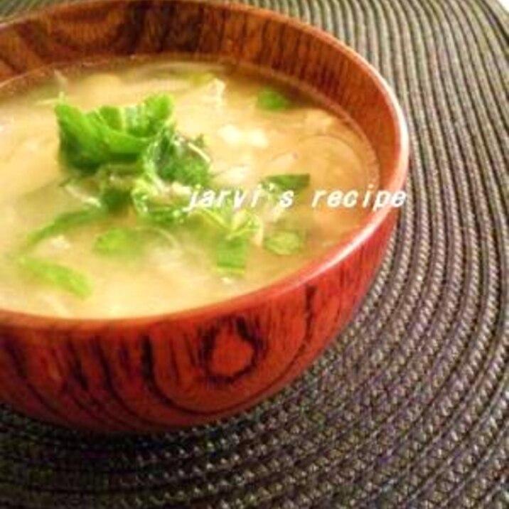 シーチキンオニオン洋風味噌汁