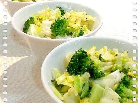 春キャベツとブロッコリーのサラダ
