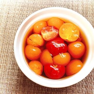 ミニトマトのはちみつ黒酢マリネ