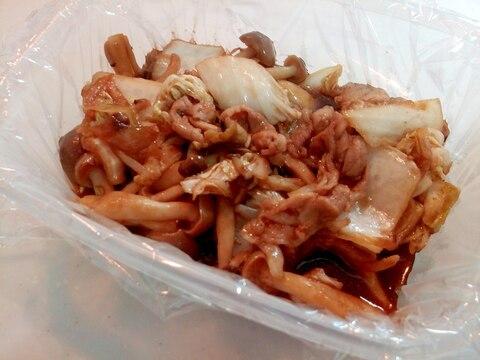豚肉・玉ねぎ・しめじ・白菜のどろソース炒め