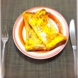 卵1個で簡単!朝からカフェ気分!フレンチトースト