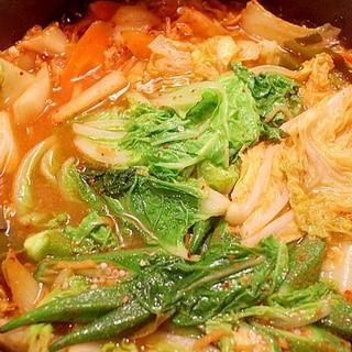 白菜たっぷりラムキムチ鍋