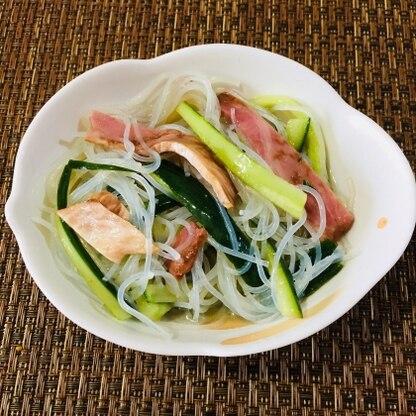 こんばんは(^_^)  タレの酸味が丁度良くて美味しかったです。  これからの暑い時期にはキンキンに冷やすと良さそうですね。