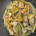 ふきと鶏肉の簡単炒め