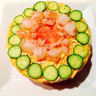 お手軽な寿司ケーキ