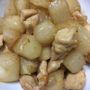 かぶと鶏肉の煮物