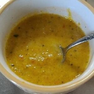 電子レンジで簡単、かぼちゃの冷製スープ