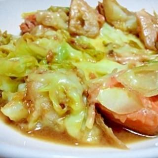フライパンで簡単☆鮭のチャンチャン焼きチーズのせ☆