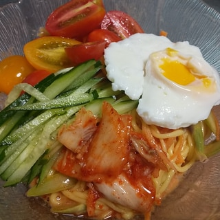 こってり味で満足★糖質0麺の野菜たっぷりビビン麺