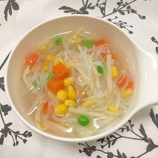 しらたきともやしのヘルシー 簡単スープ♪
