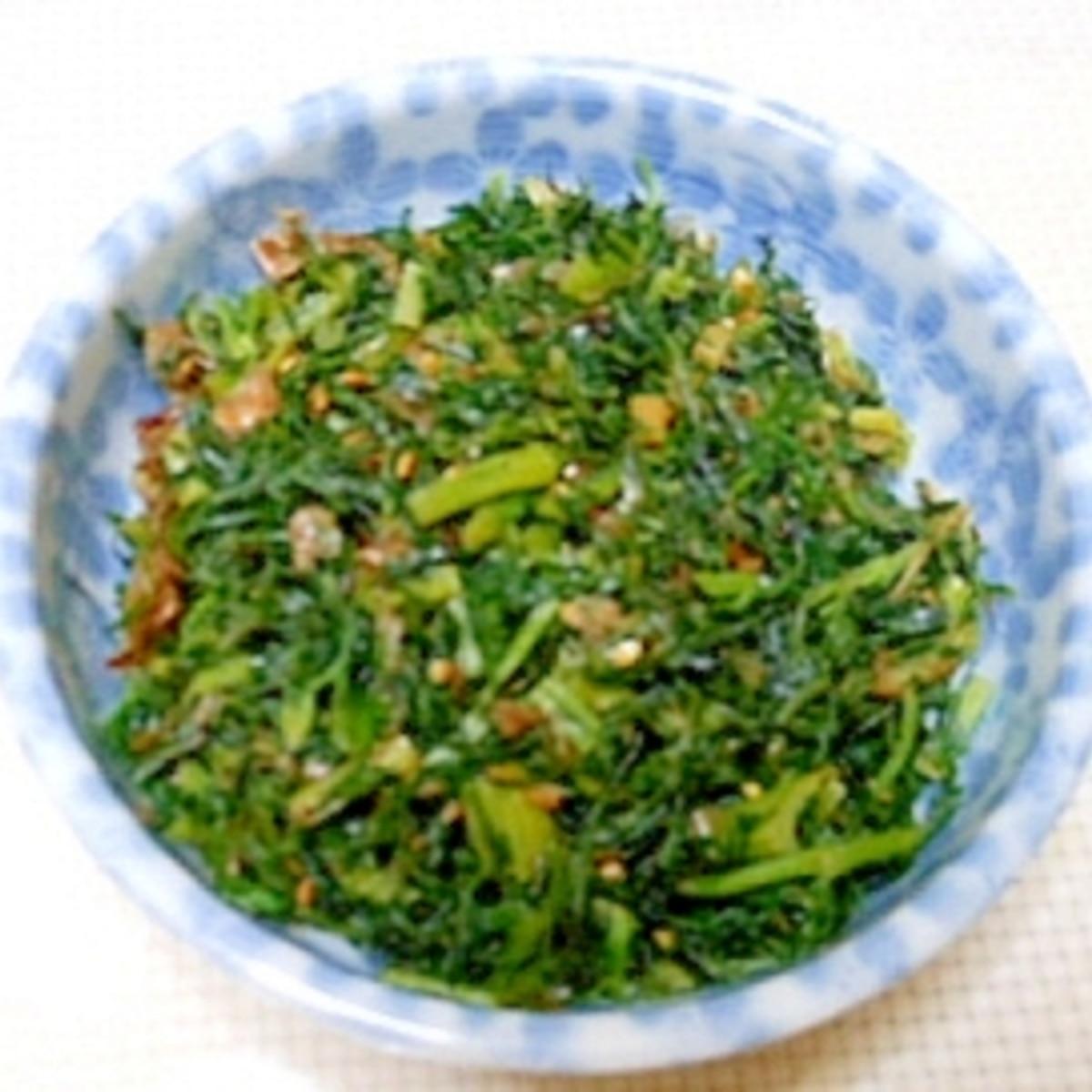 人参 の 葉 の 料理