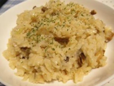 残りご飯でお手軽チーズリゾット