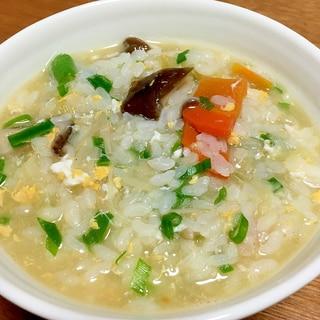 麺つゆでやさしい雑炊