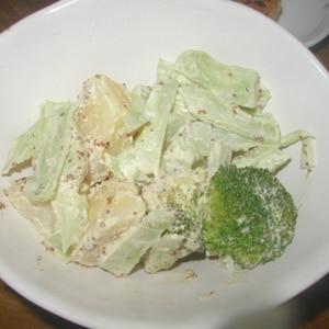 ブロッコリ-と新ジャガイモのマスタードマヨサラダ