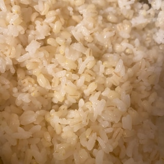5割炊きもち麦ご飯