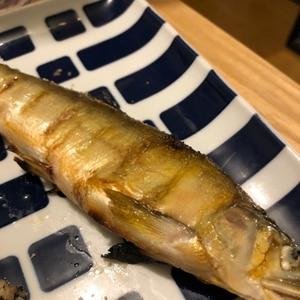 塩ふってグリルで10分~♬ 鮎の塩焼き