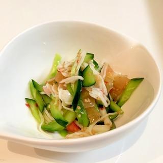 きゅうりと中華クラゲの酢の物