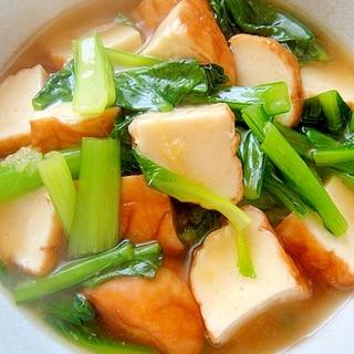 魚河岸揚げと小松菜のあっさりとろみ煮