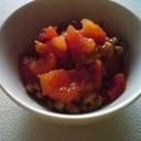 納豆の焼きトマトのせ