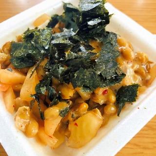 キムチと海苔の納豆