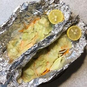 すだちでさっぱり!フライパンで作る!鮭のホイル焼き