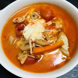 モッツァレラチーズ入りトマト鍋