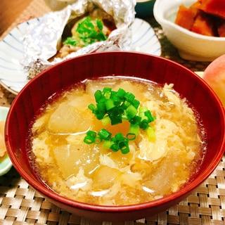 とろふわ♡冬瓜と卵のスープ
