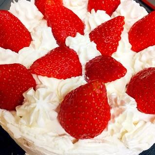 おうちで手作りショートケーキ