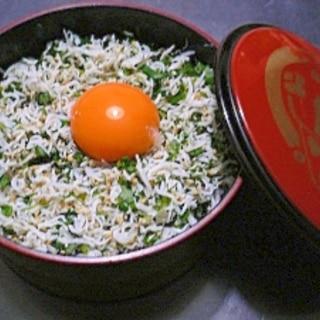 栄養たっぷり☆我が家のシラス丼♪