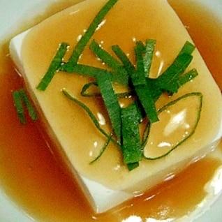 あんかけ湯豆腐二種