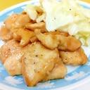 簡単♪(^^)鶏むね肉の甘辛照り焼き&キャベツ♪