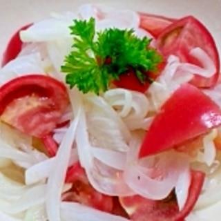スーパーフルーツトマトの新玉葱サラダ