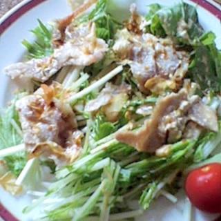おしゃれ☆カリカリベーコン&水菜のクリーミーサラダ