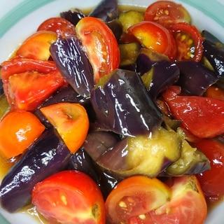 レンジで★トマトとナスのポン酢マリネ