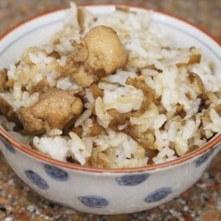 ニンニク香るゴボウ鶏飯 大量レシピ