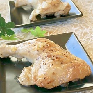 フライパンで★シンプル★骨付きもも肉の塩焼き